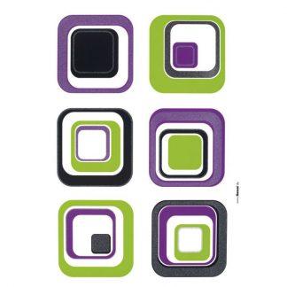 Sticker perete - Cuburi Retro 17016