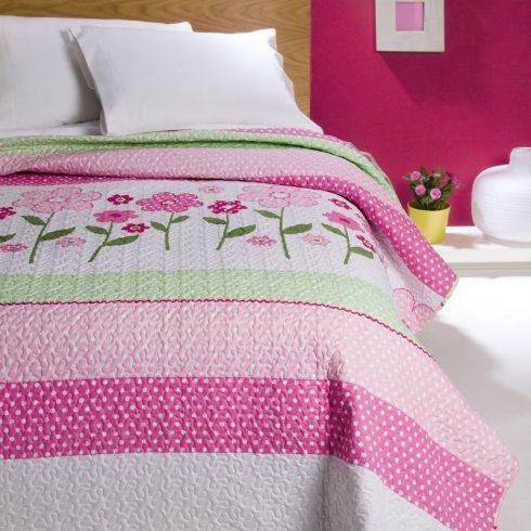 Cuvertura pat roz cu flori Casia Catalog