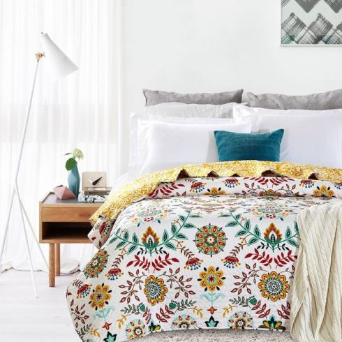 Cuvertura pat cu flori boho Antonella 7794
