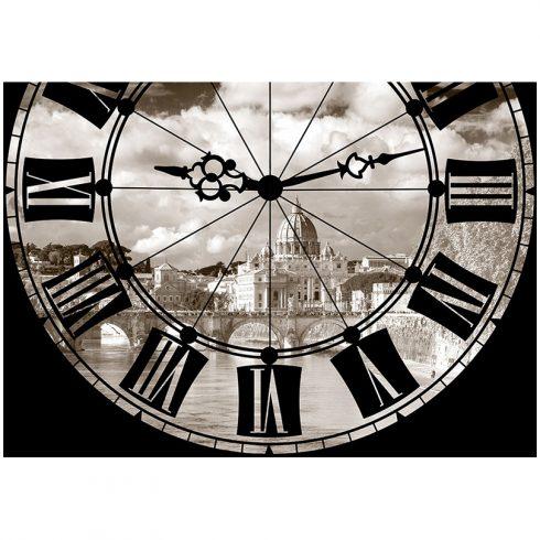 Fototapet ceas alb negru Roma