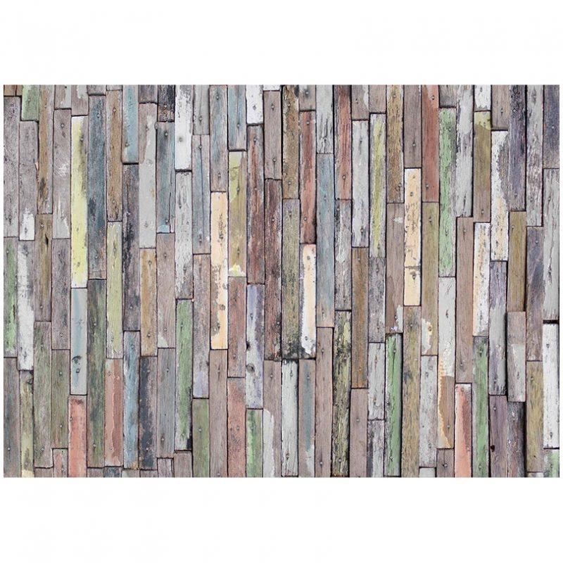 Fototapet lemn vintage colorat