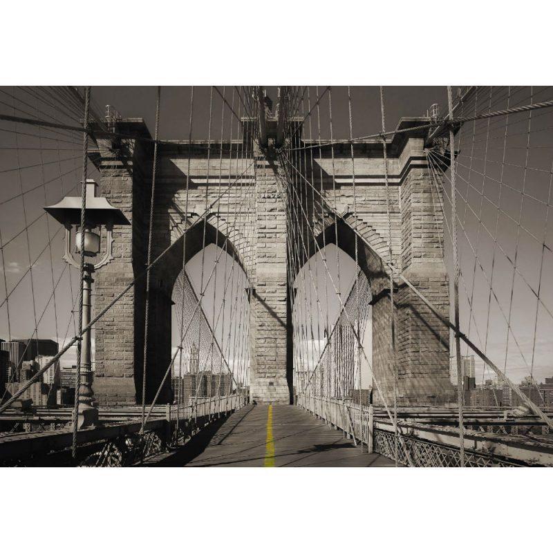 Fototapet orase podul Brooklyn alb negru