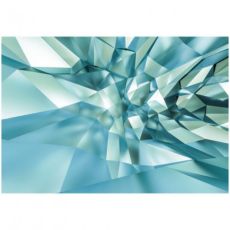 Fototapet modern efect 3D de cristal