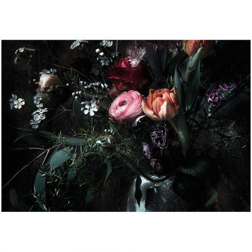 Fototapet negru - Profunzimea florilor