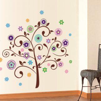 Sticker Copac Flori Colorate - Catalog