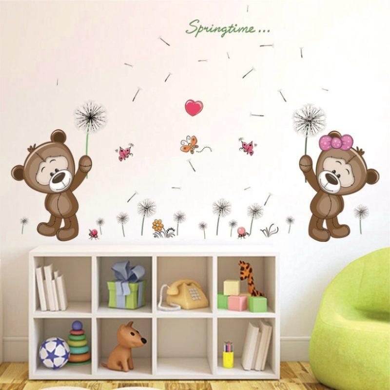 Autocolant Perete Copii - Ursuleti cu Papadii Catalog