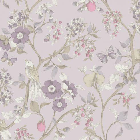 Tapet Lila Floral Damsen - Catalog