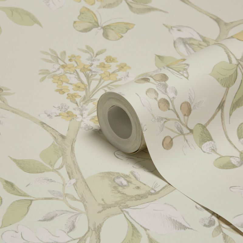 Tapet Floral Damsen Bej - Detaliu 1