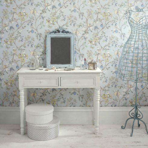 Tapet Floral Damsen Bleu - Catalog