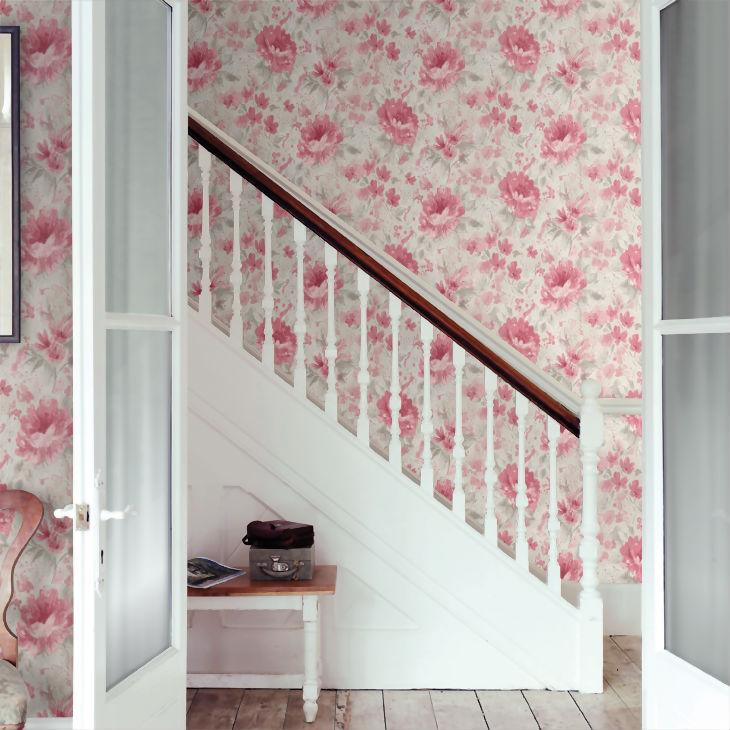 Tapet cu Flori Rosii Olina - Ambient 3