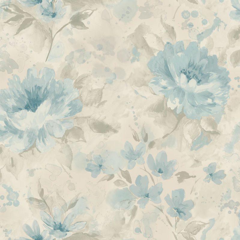 Tapet cu Flori Bleu Olina - Catalog