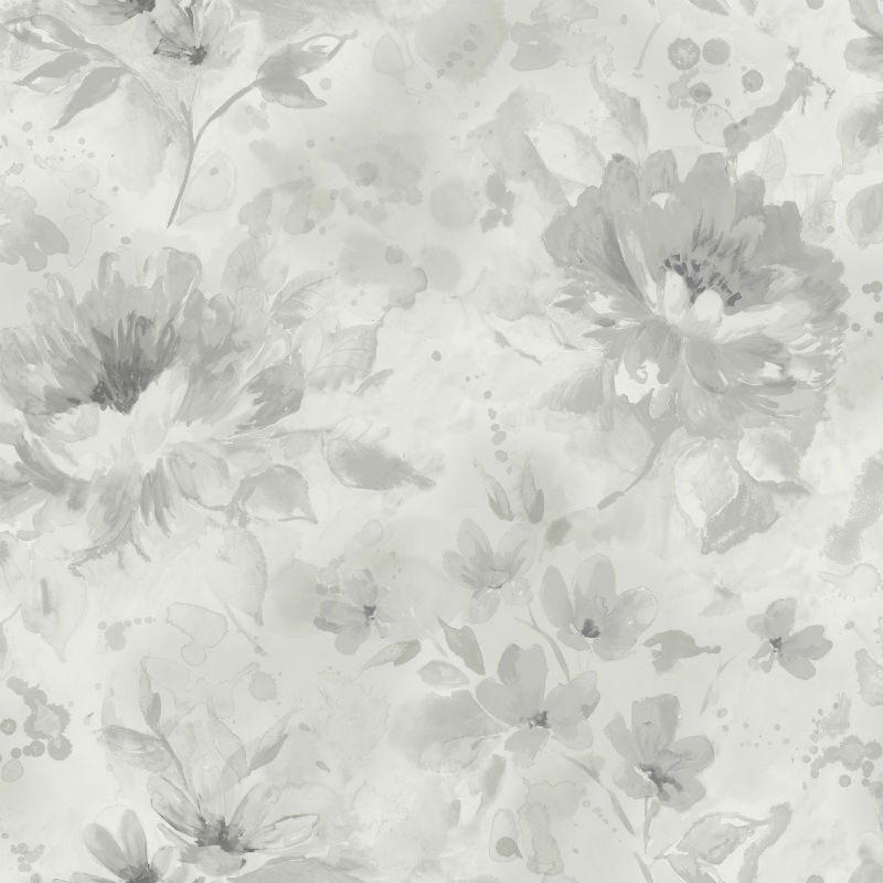 Tapet cu Flori Gri Olina - Catalog