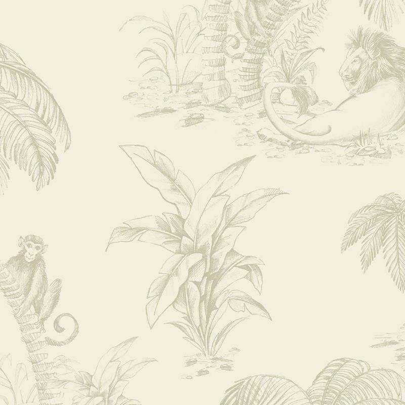 Tapet Palmieri si Animale Gri - Holden Detaliu