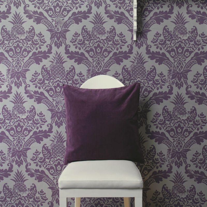 Tapet Damasc Exotic Violet Bengal - Ambient