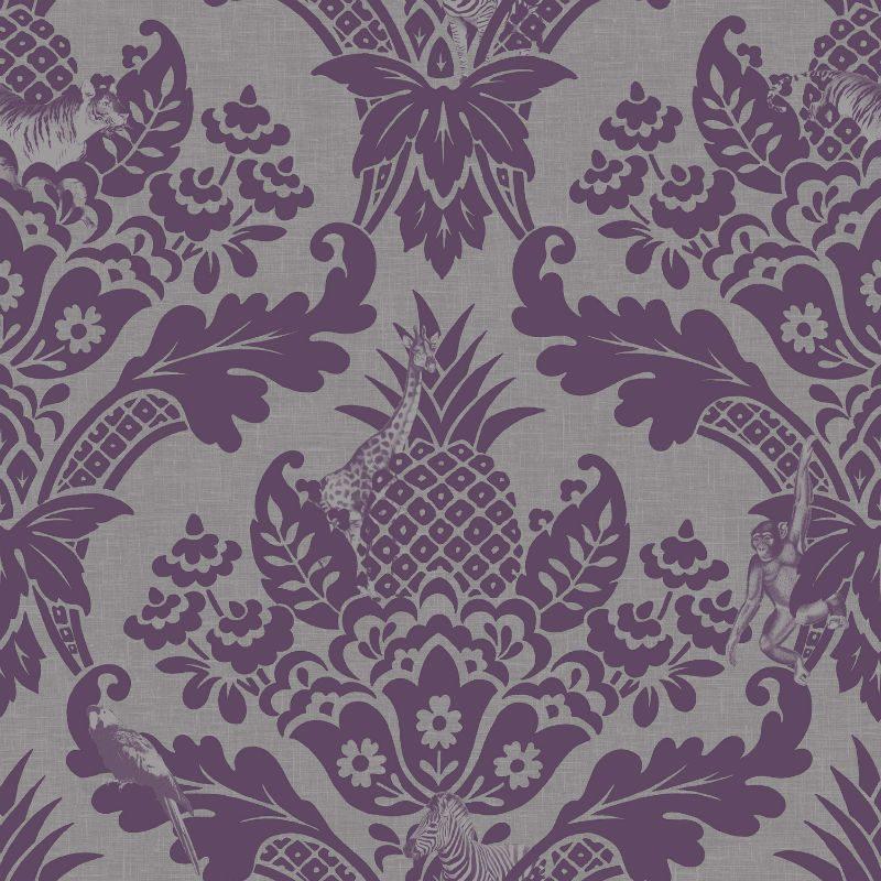 Tapet Damasc Exotic Violet Bengal - Catalog