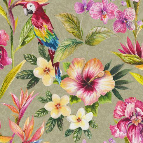 Tapet exotic flori si papagali multicolori - Holden Cafeniu catalog
