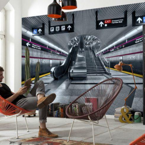 Fototapet Urban - Subway Ambient
