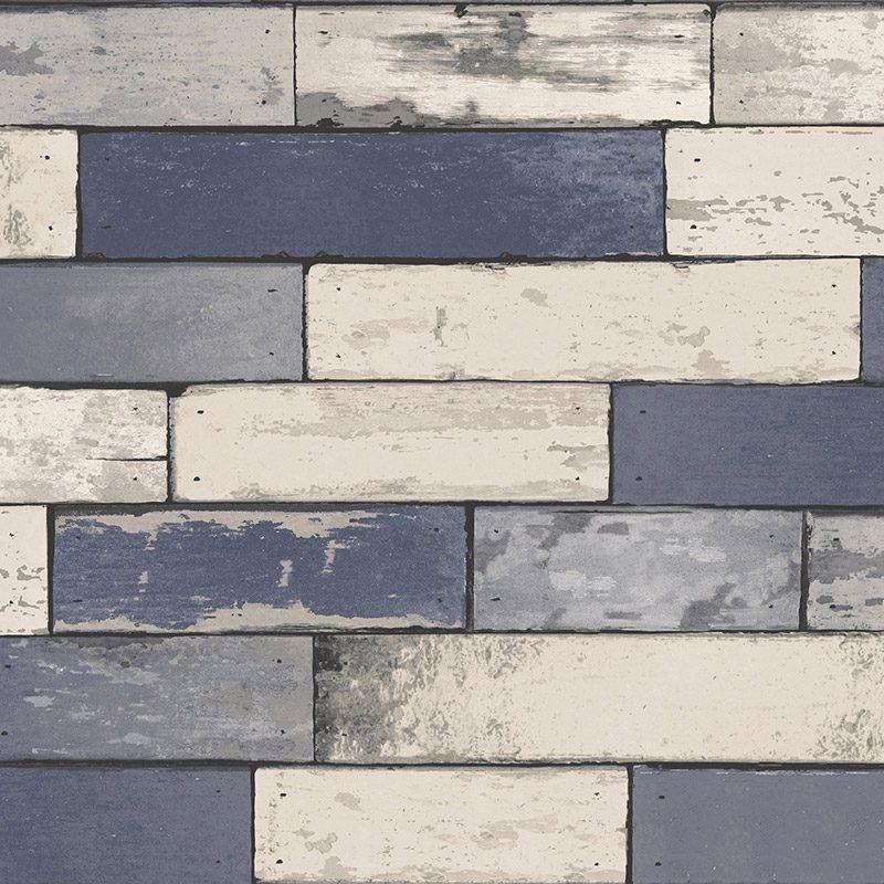 Tapet lemn albastru vintage