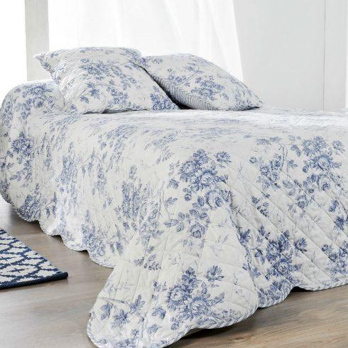 Cuvertura pat cu flori albastre clasica Cabourg Catalog