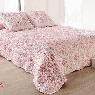 Cuvertura pat eleganta cu trandafiri stil baroc 2