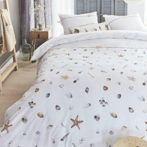Lenjerie de pat alba cu scoici catalog