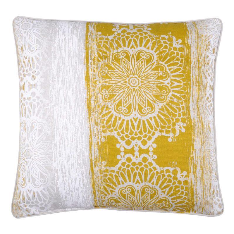 Perna Decorativa Vintage Boho Galben Saadi