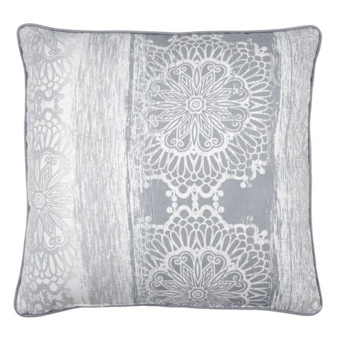 Perna Decorativa Vintage Boho Gri Saadi 1