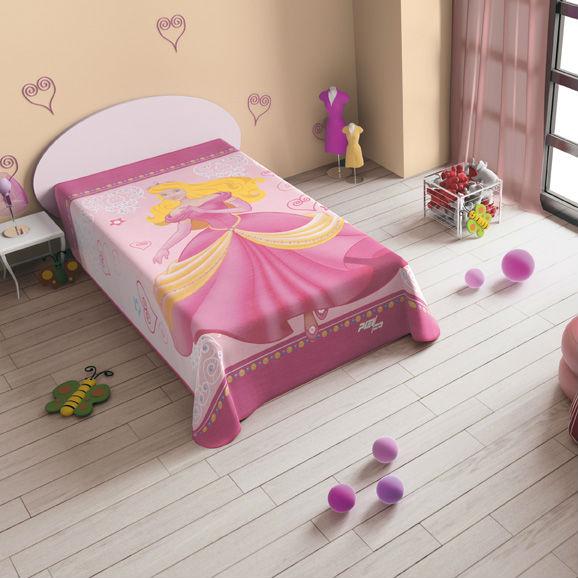 Cuvertura pat roz cu printesa Catalog