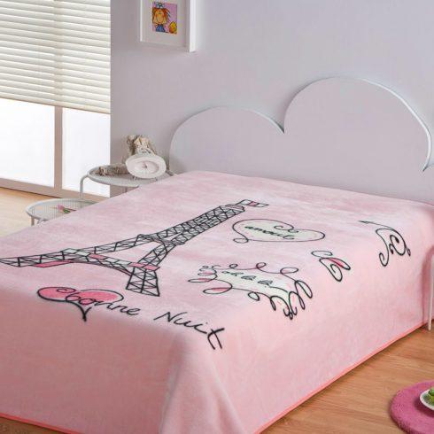 Cuvertura pat roz pentru fete Paris Catalog