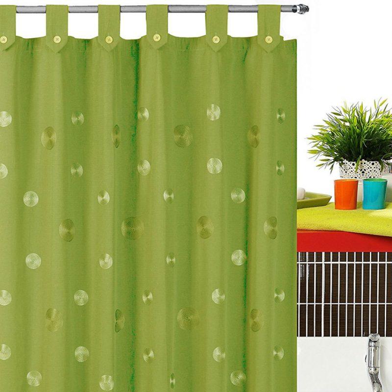 Perdea cada verde din material textil Camelia Catalog