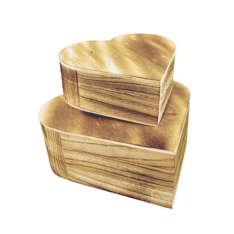 Set doua cutii lemn decoupage inimioara Catalog