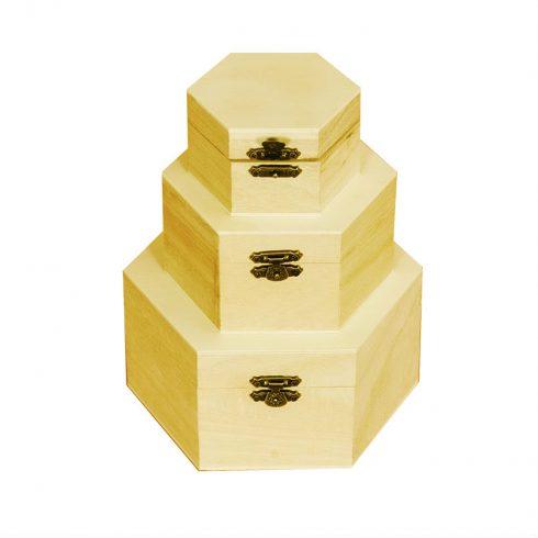 Set doua cutii lemn natur Catalog