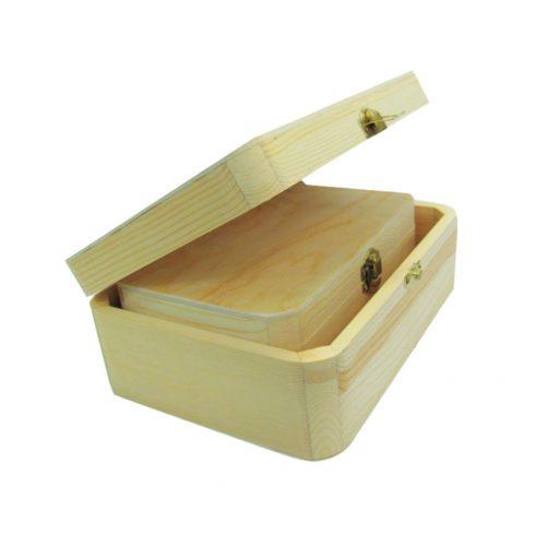 Set doua cutii din lemn Pentart