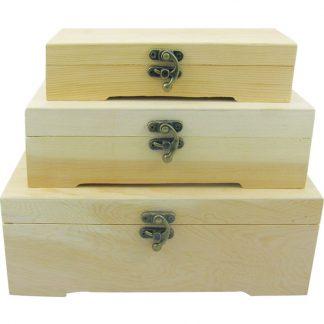 Set cutii de lemn pentru decorat Catalog