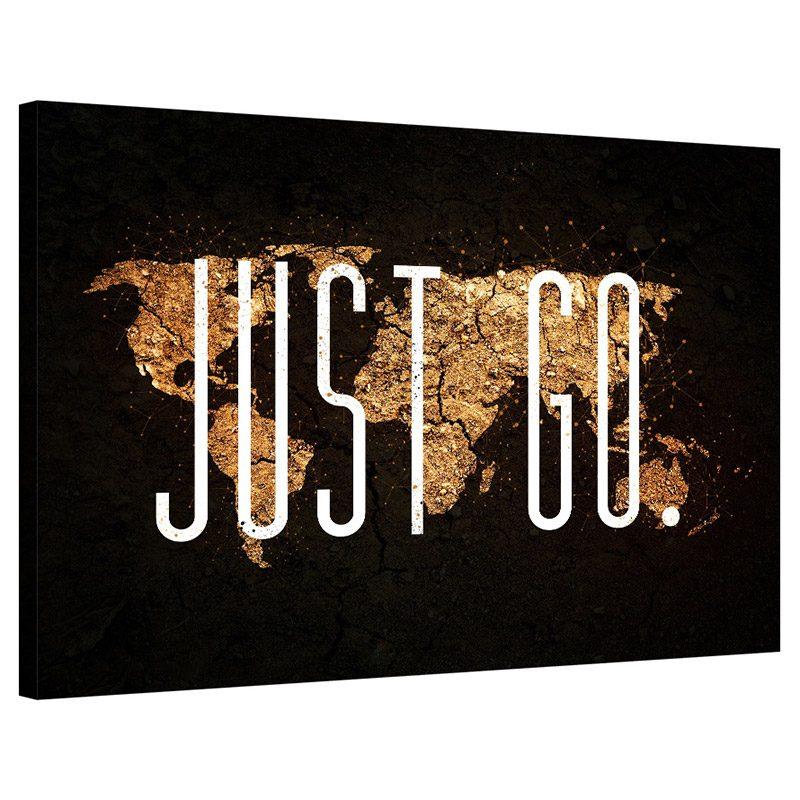 Tablou harta lumii canvas Just Go