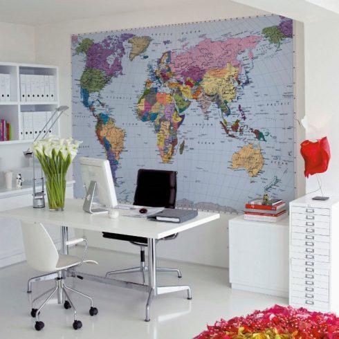 Fototapet harta lumii komar