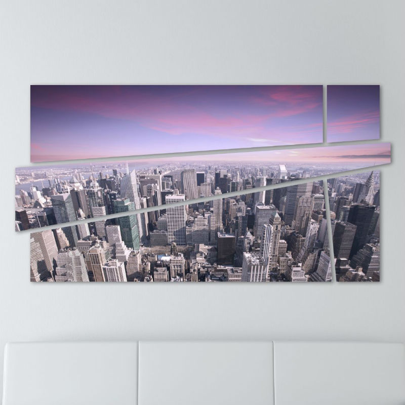 new york painting skyline 100 x 53 cm