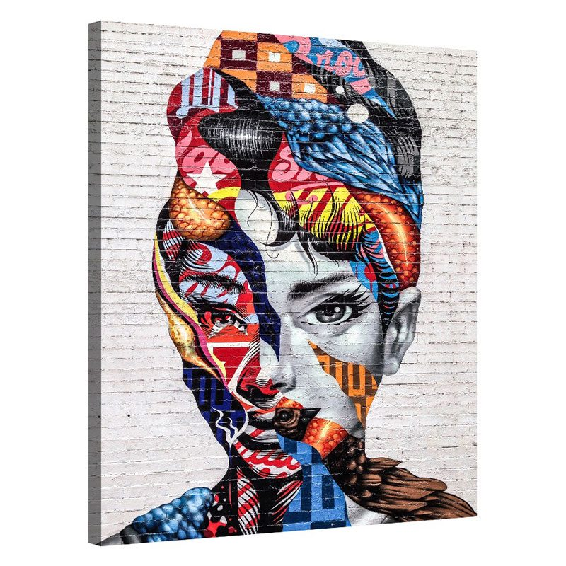 Tablou abstract cu chip de femeie