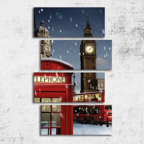 Tablou canvas 4 piese Londra Catalog