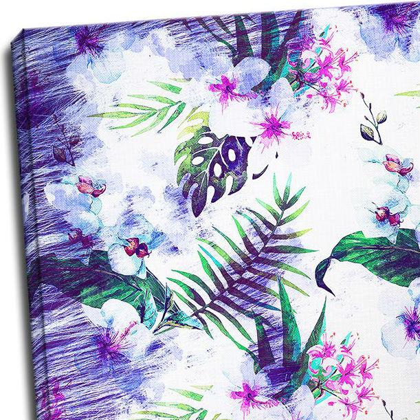 Tablou floral Violet tropical Detaliu