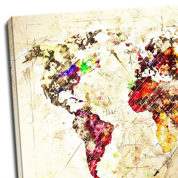 Tablou harta lumii O noua aventura detaliu