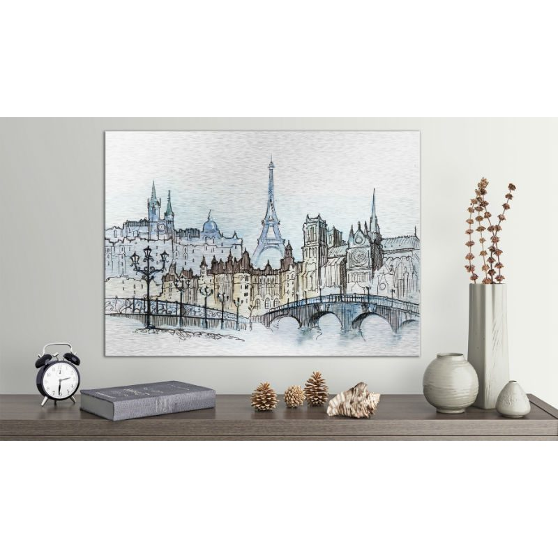 Tablou Paris cu aspect de schita - Ambient 1