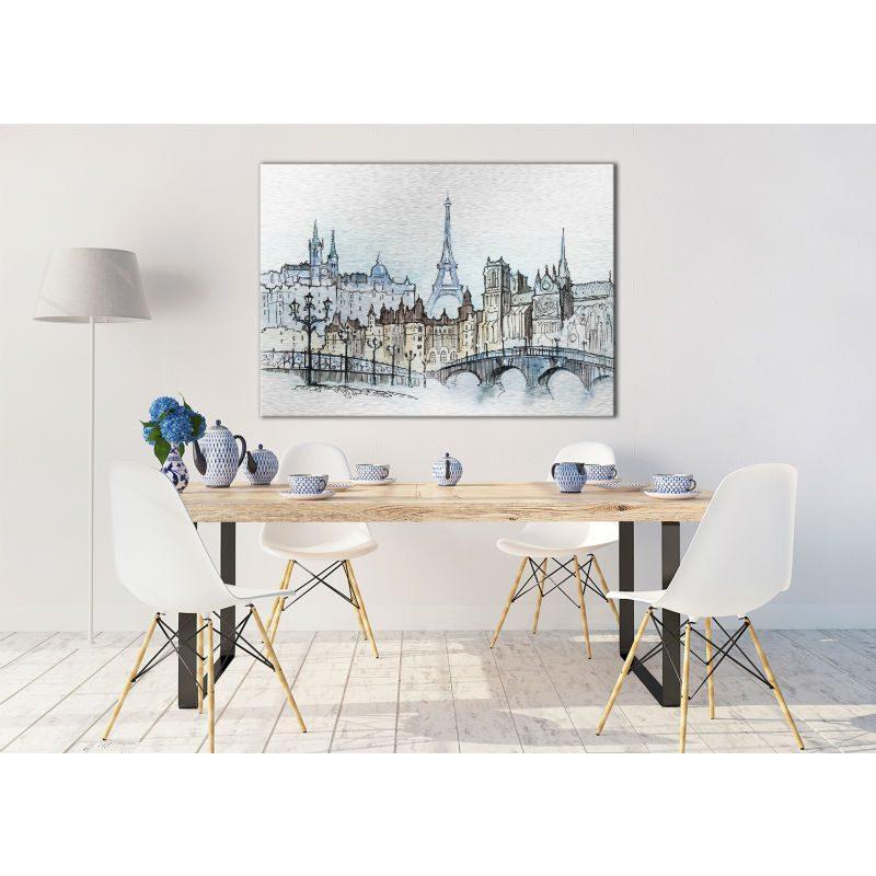 Tablou Paris cu aspect de schita - Ambient 3