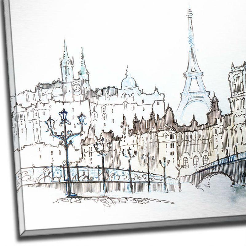 Tablou Paris cu aspect de schita - Detaliu