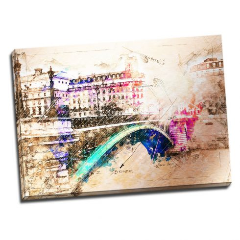 Tablou Paris cu aspect vintage - Aspect zona luminata