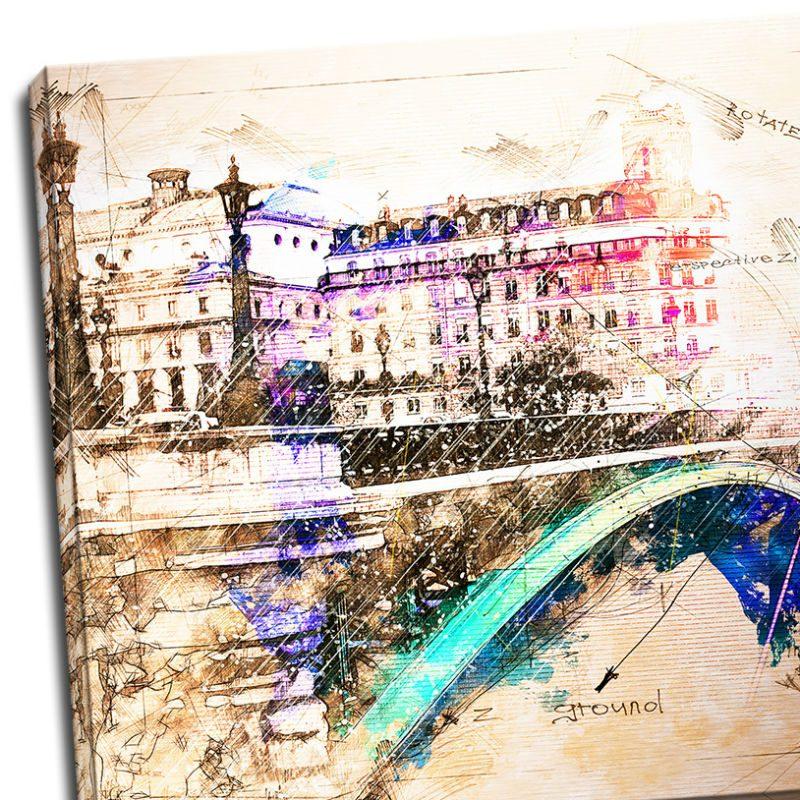 Tablou Paris cu aspect vintage - Detaliu