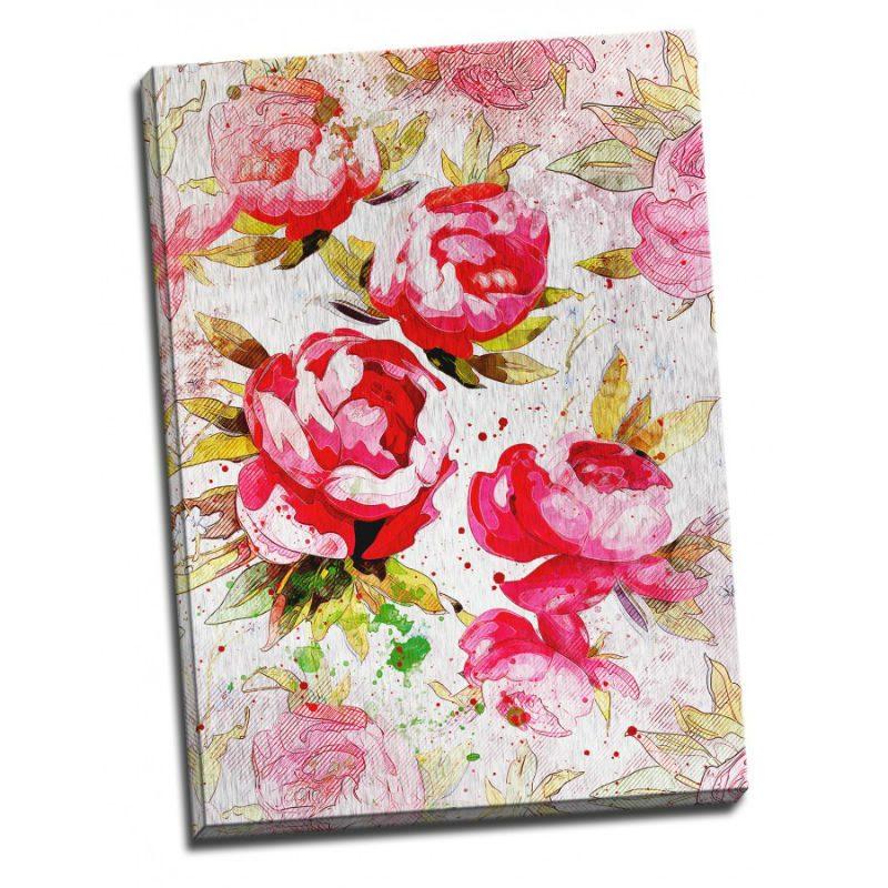 Tablou trandafiri shabby chic - Aspect zona luminata