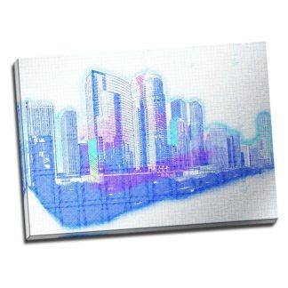 Tablou Chicago - Dinamism - Aspect zona luminata