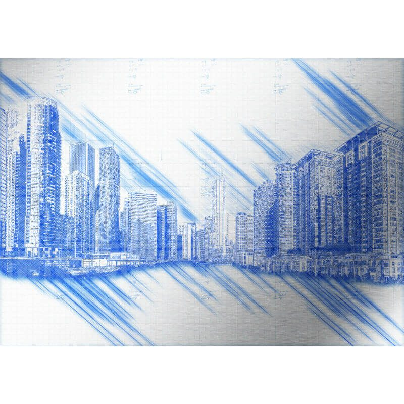 Tablou Chicago - Schita - Aspect zona intunecata