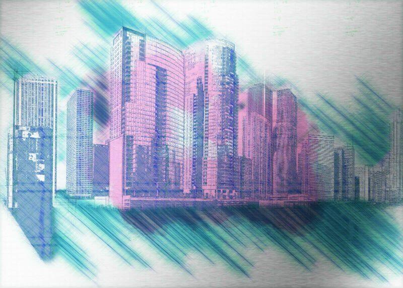 Tablou Chicago - Vis in metropola - Aspect zona intunecata